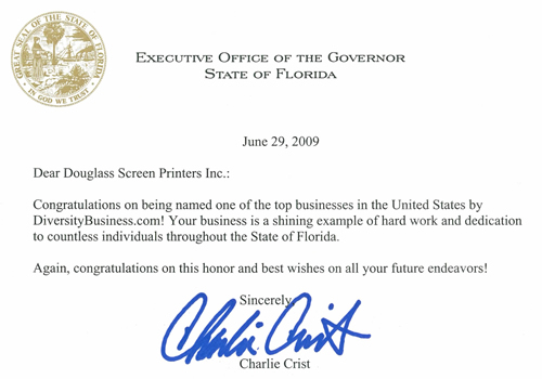 DPrint - Letter from Florida Governor