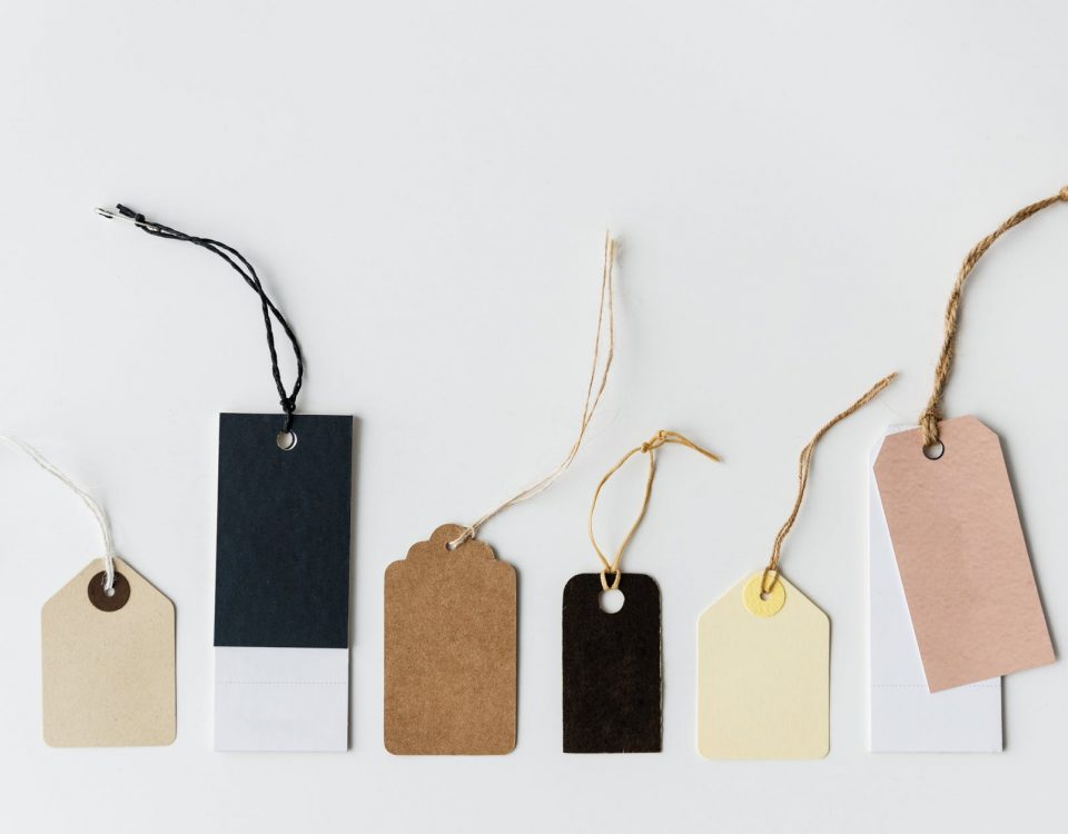 product tags and labels